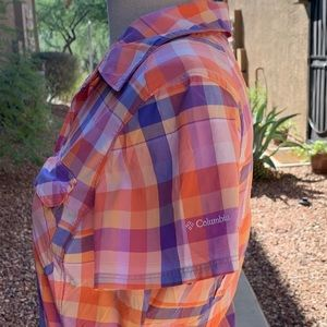 Columbia Tops - Columbia Omni Shade Plaid Button-down Shirt S/P